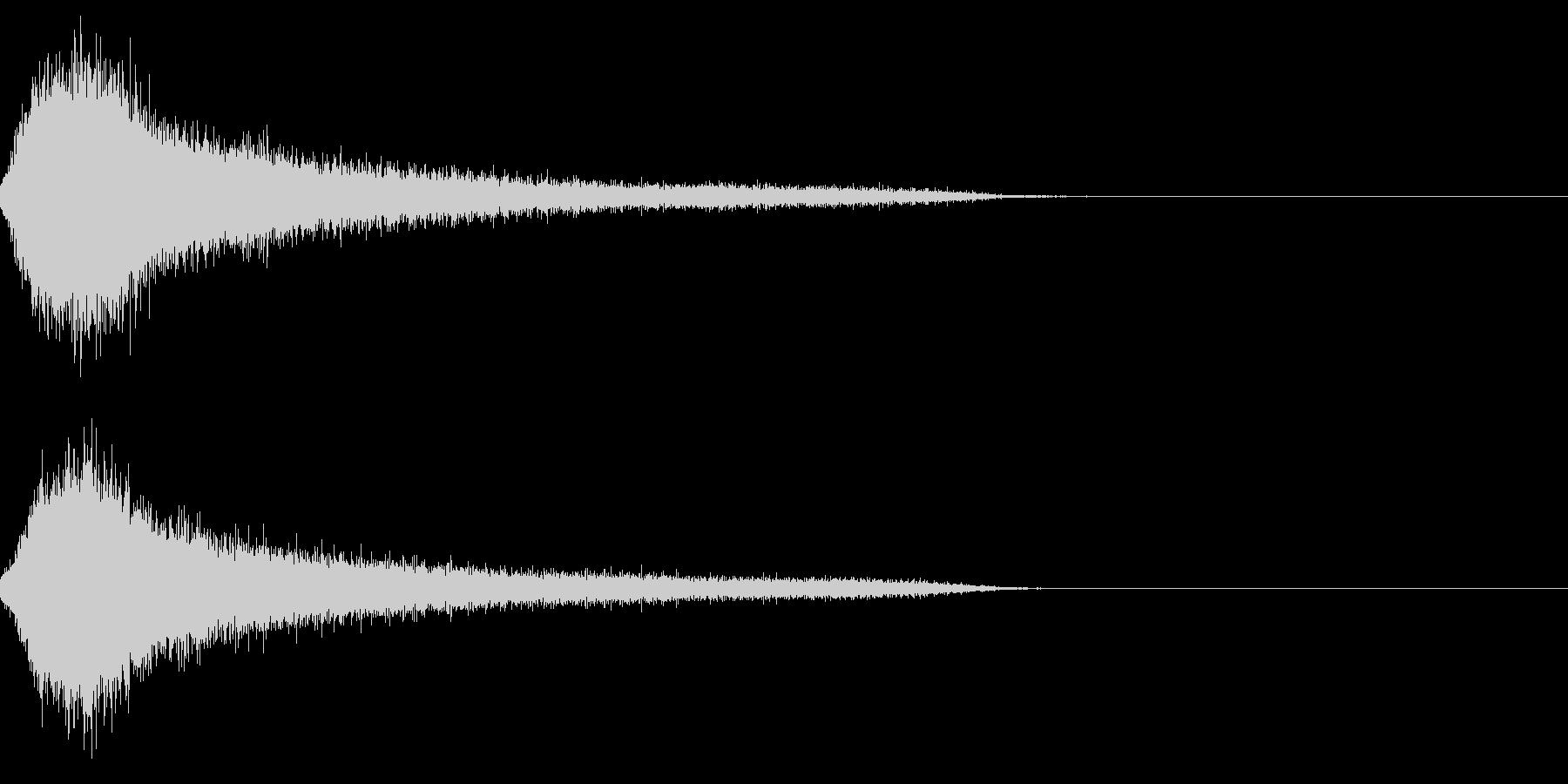 ホラー4(幽霊が現れる音)の未再生の波形
