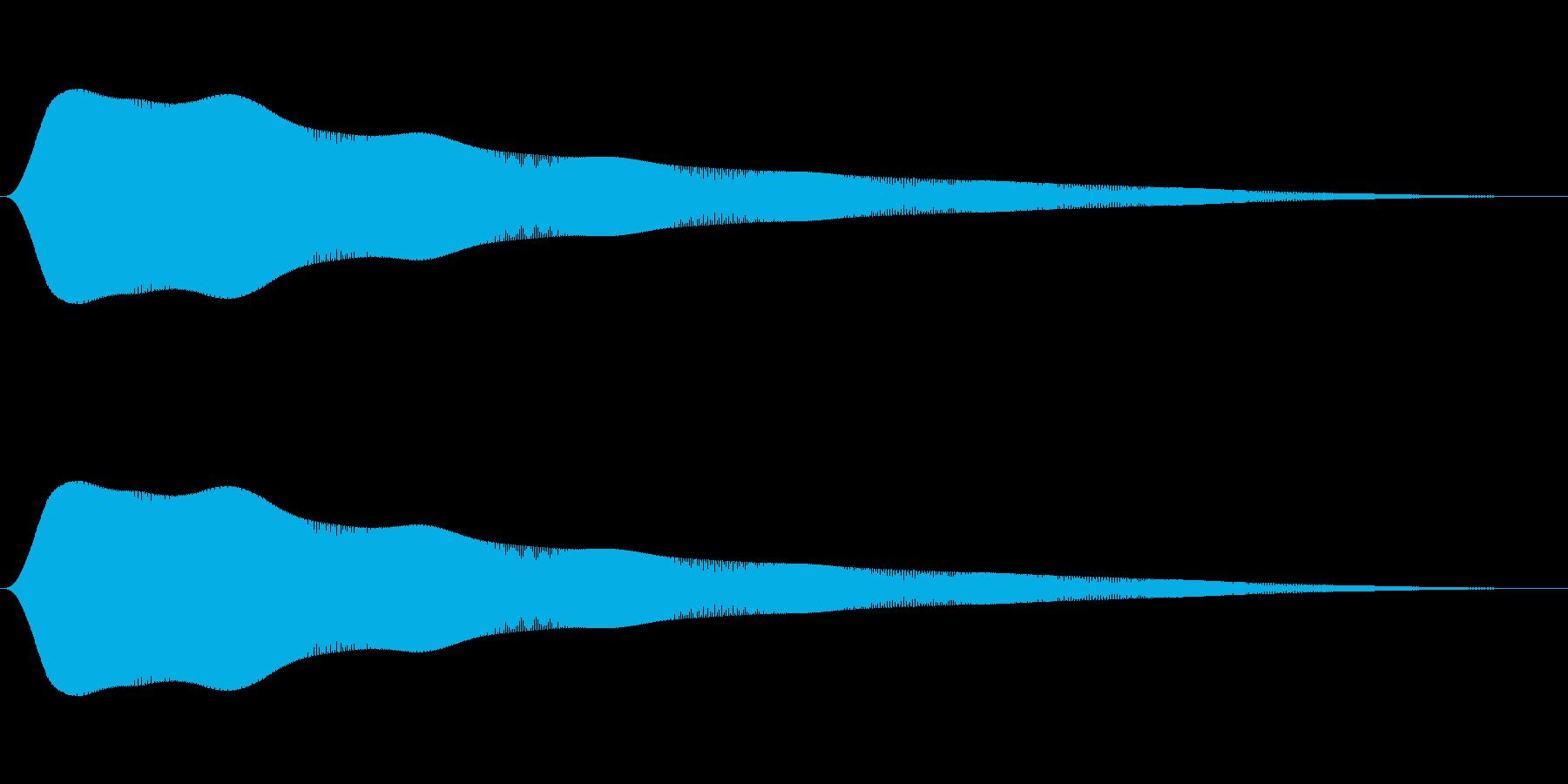 クイズ不正解音1の再生済みの波形