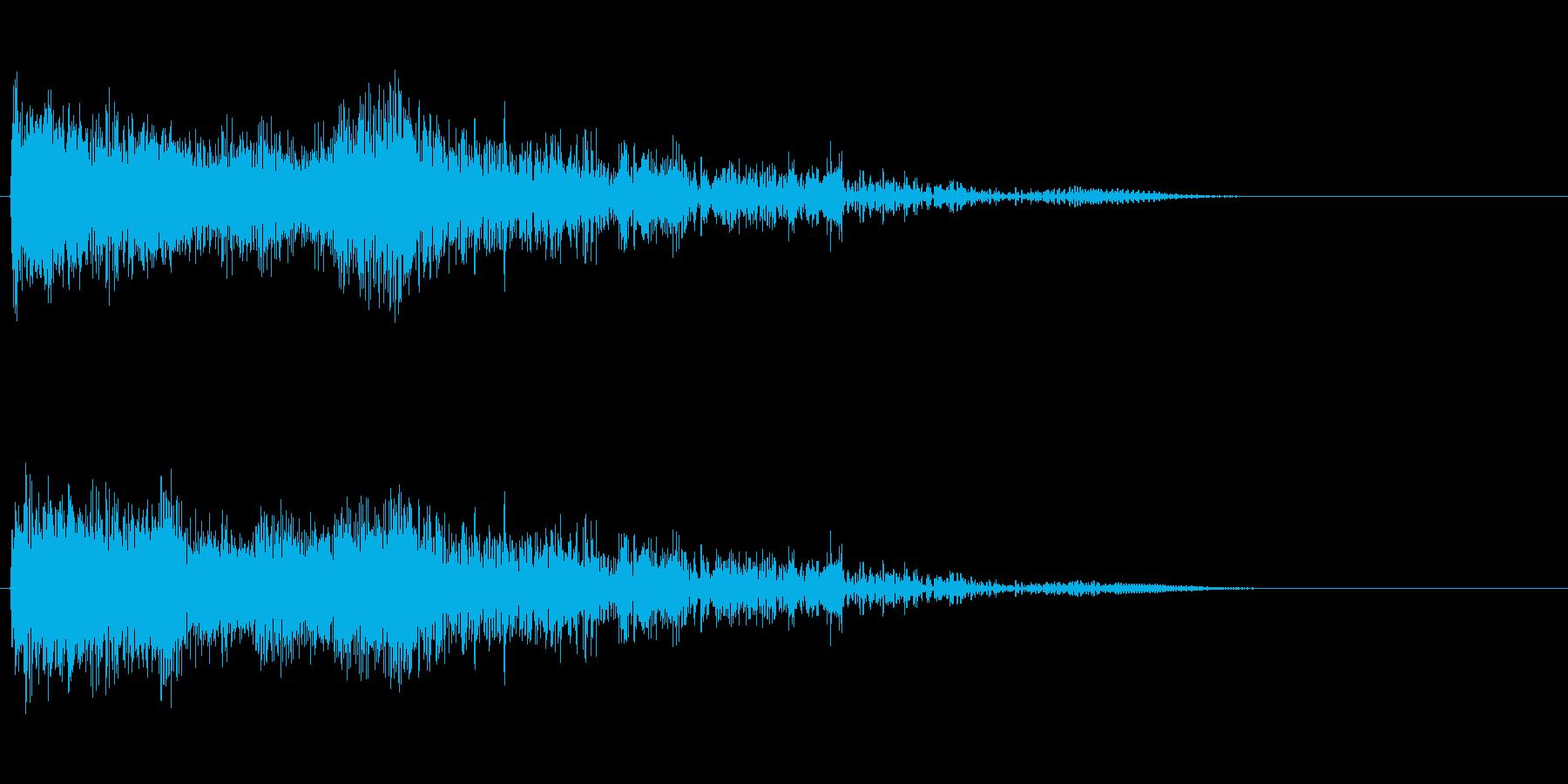 派手なシャットダウンの再生済みの波形