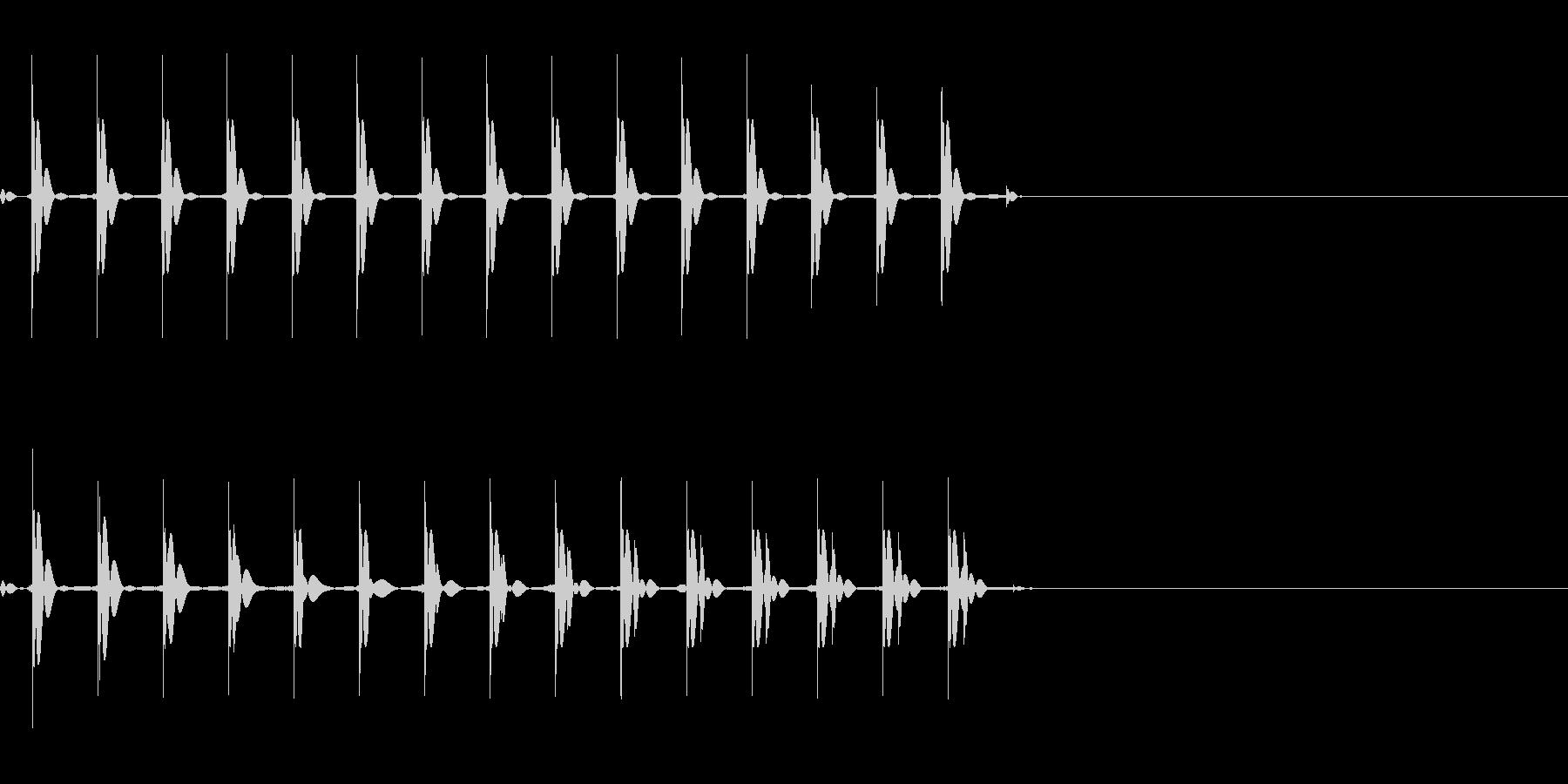 【SE 効果音】マシンガンの未再生の波形