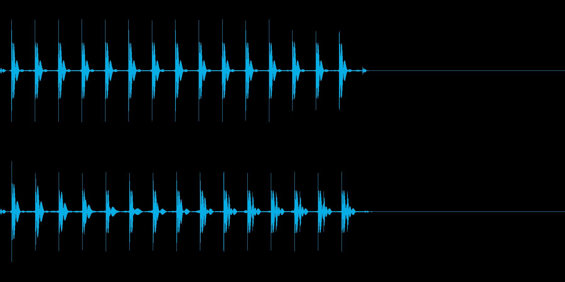 【SE 効果音】マシンガンの再生済みの波形