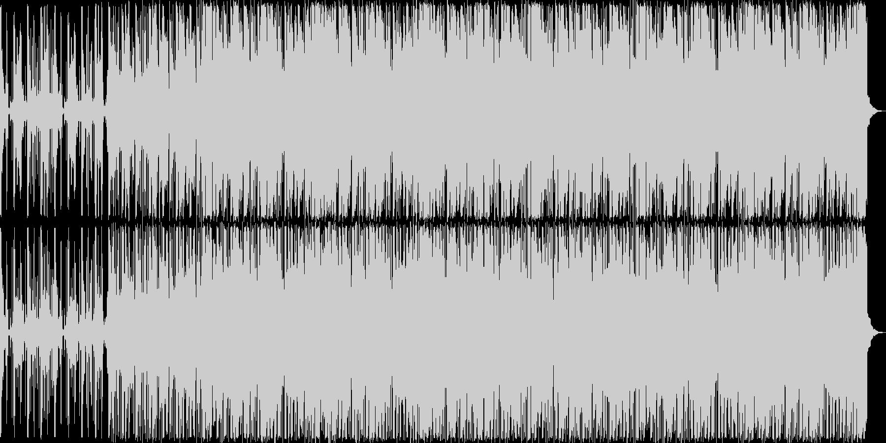 どこか懐かしいシンセが奏でるメロディの未再生の波形