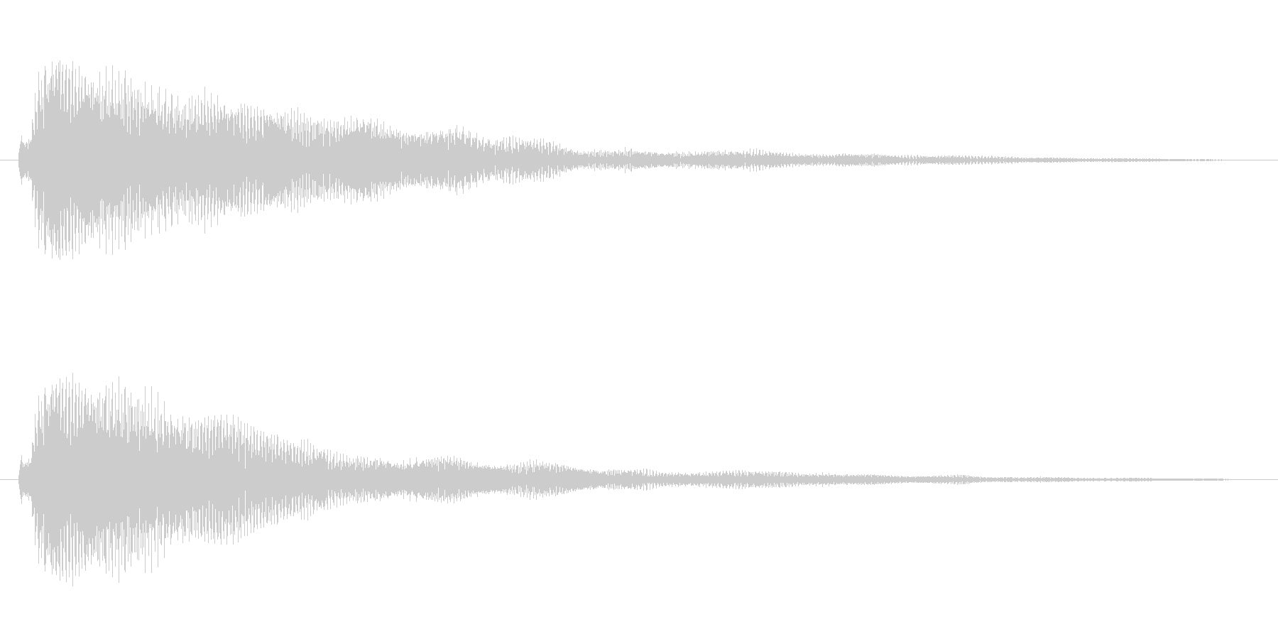 ベル系の余韻長めのボタン音1の未再生の波形