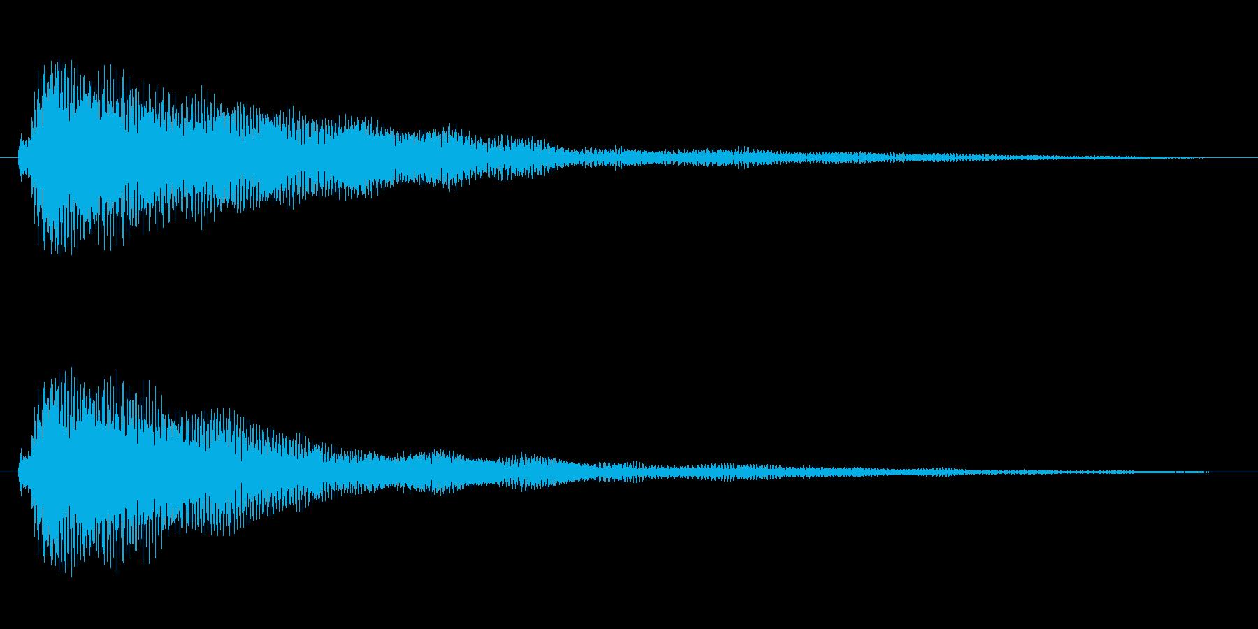 ベル系の余韻長めのボタン音1の再生済みの波形