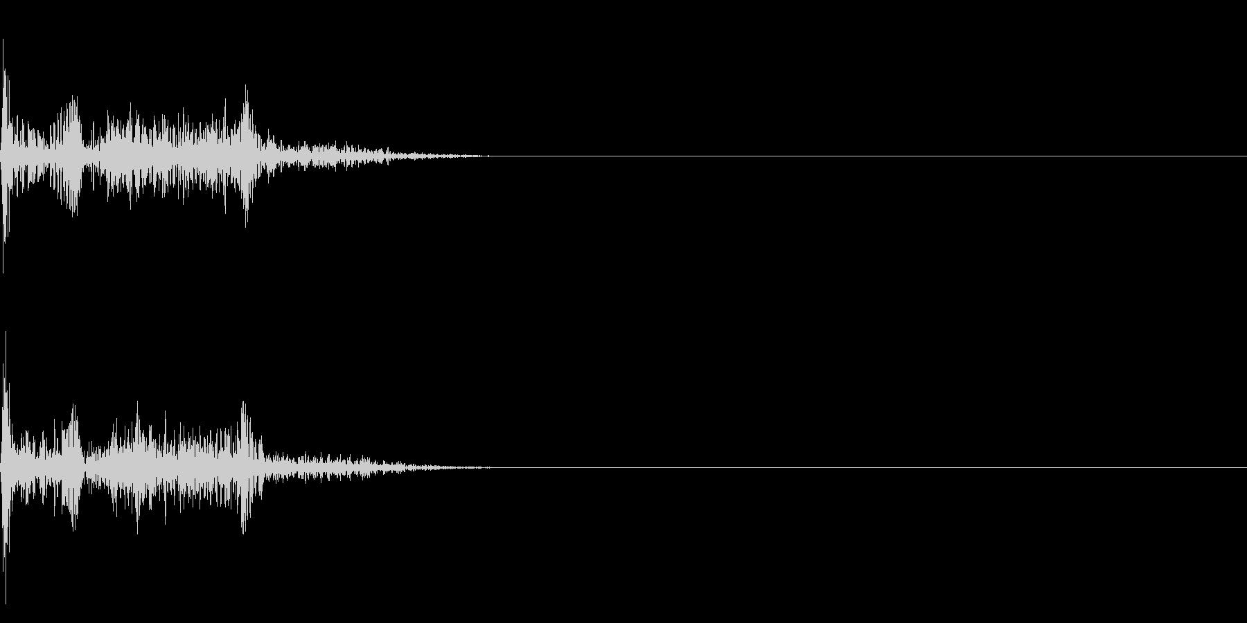 衝撃音02の未再生の波形