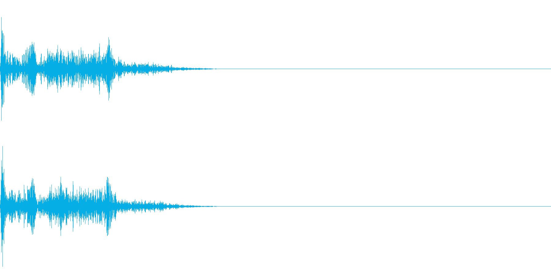 衝撃音02の再生済みの波形