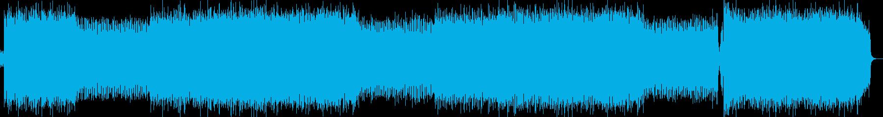 勇ましいロックの再生済みの波形