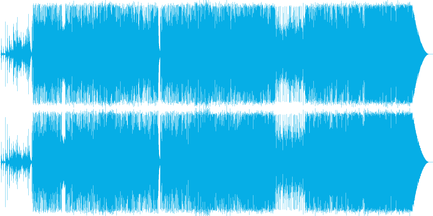 切ない雰囲気のミディアムバラードの再生済みの波形