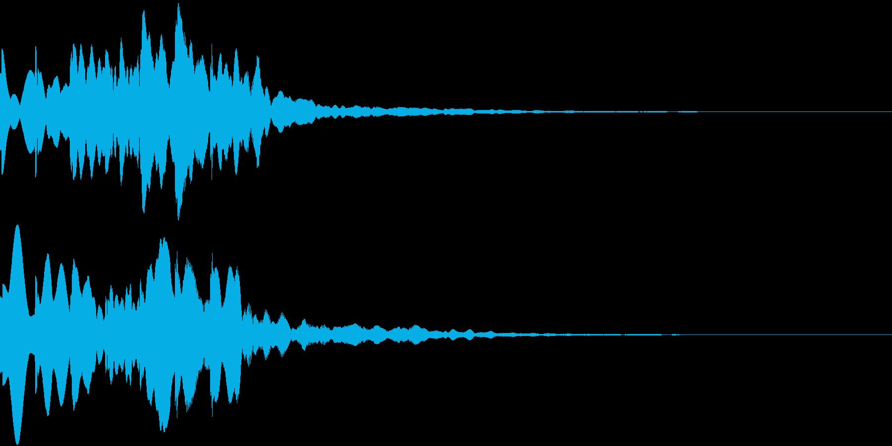 News ニュース番組のトピックSE 3の再生済みの波形