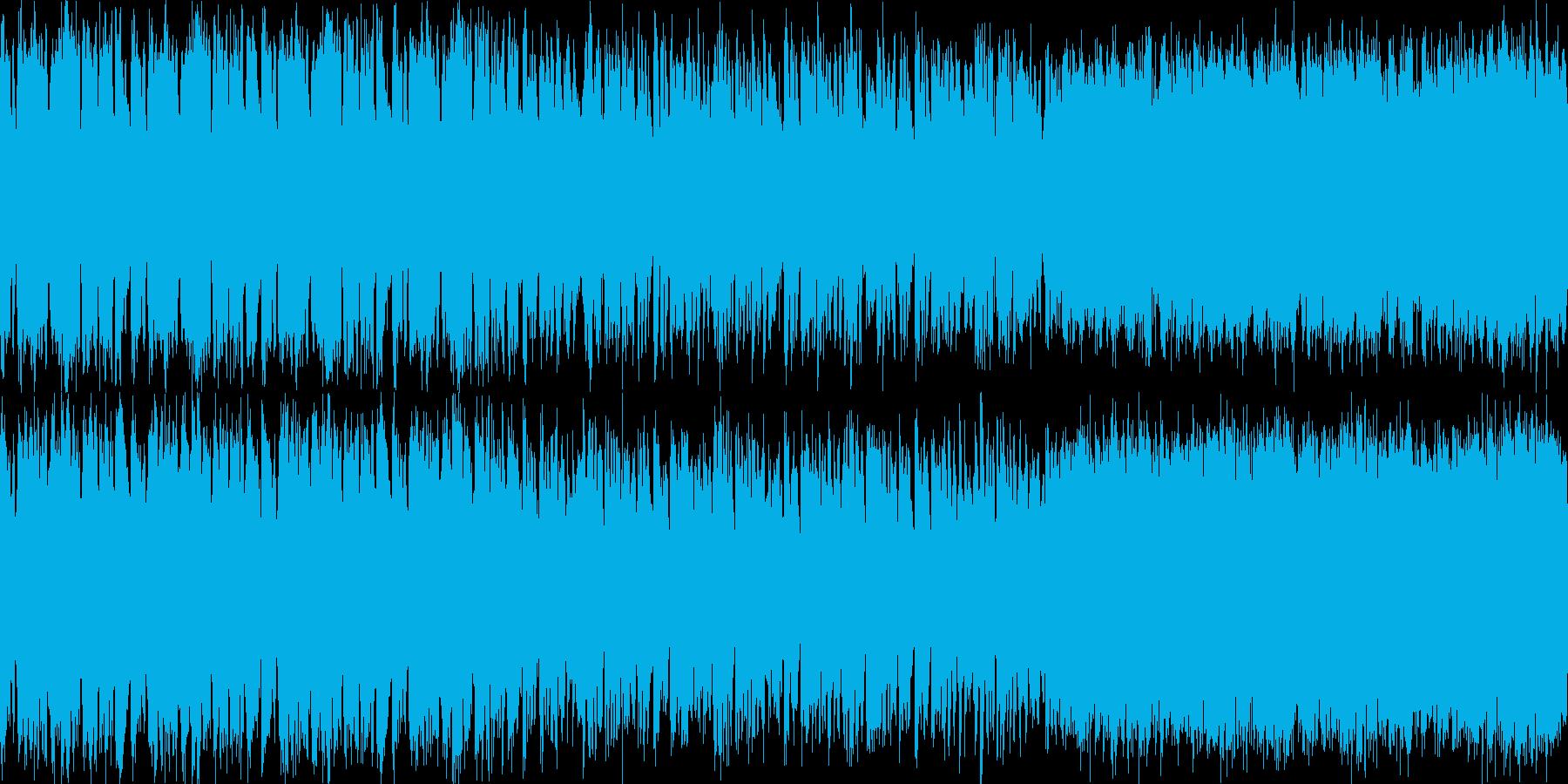 RPGの酒場で流れそうな曲(ループ可)の再生済みの波形