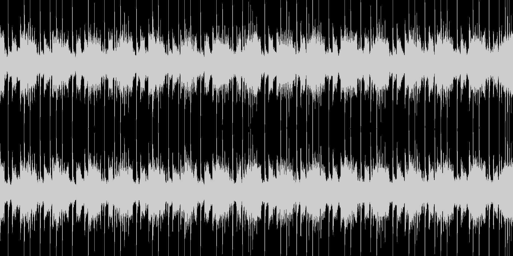 疾走感のあるクールなテクノの未再生の波形