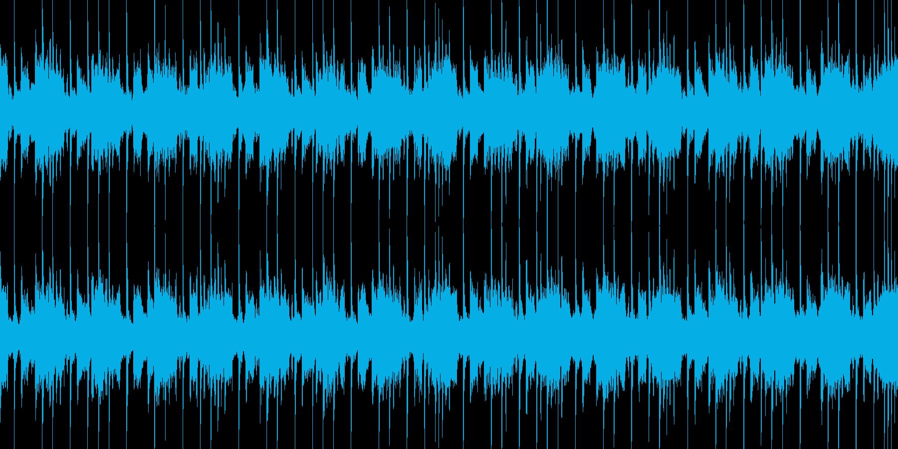 疾走感のあるクールなテクノの再生済みの波形