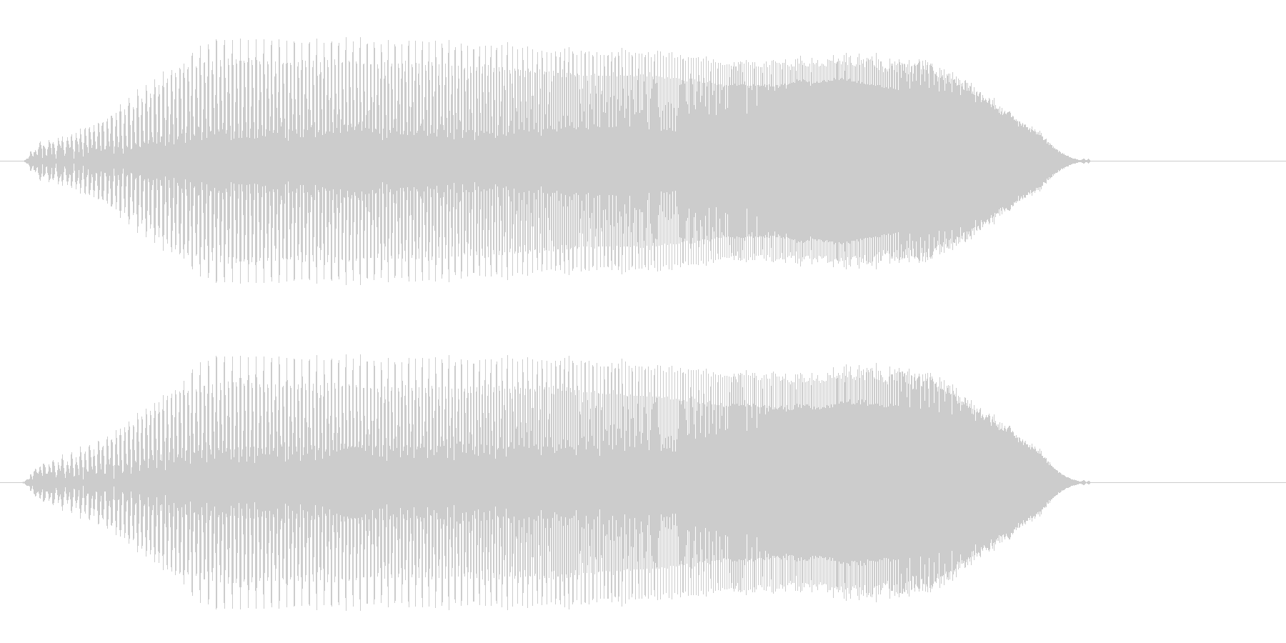 プーィ、プーィ↑、プー(コミカル電子音)の未再生の波形