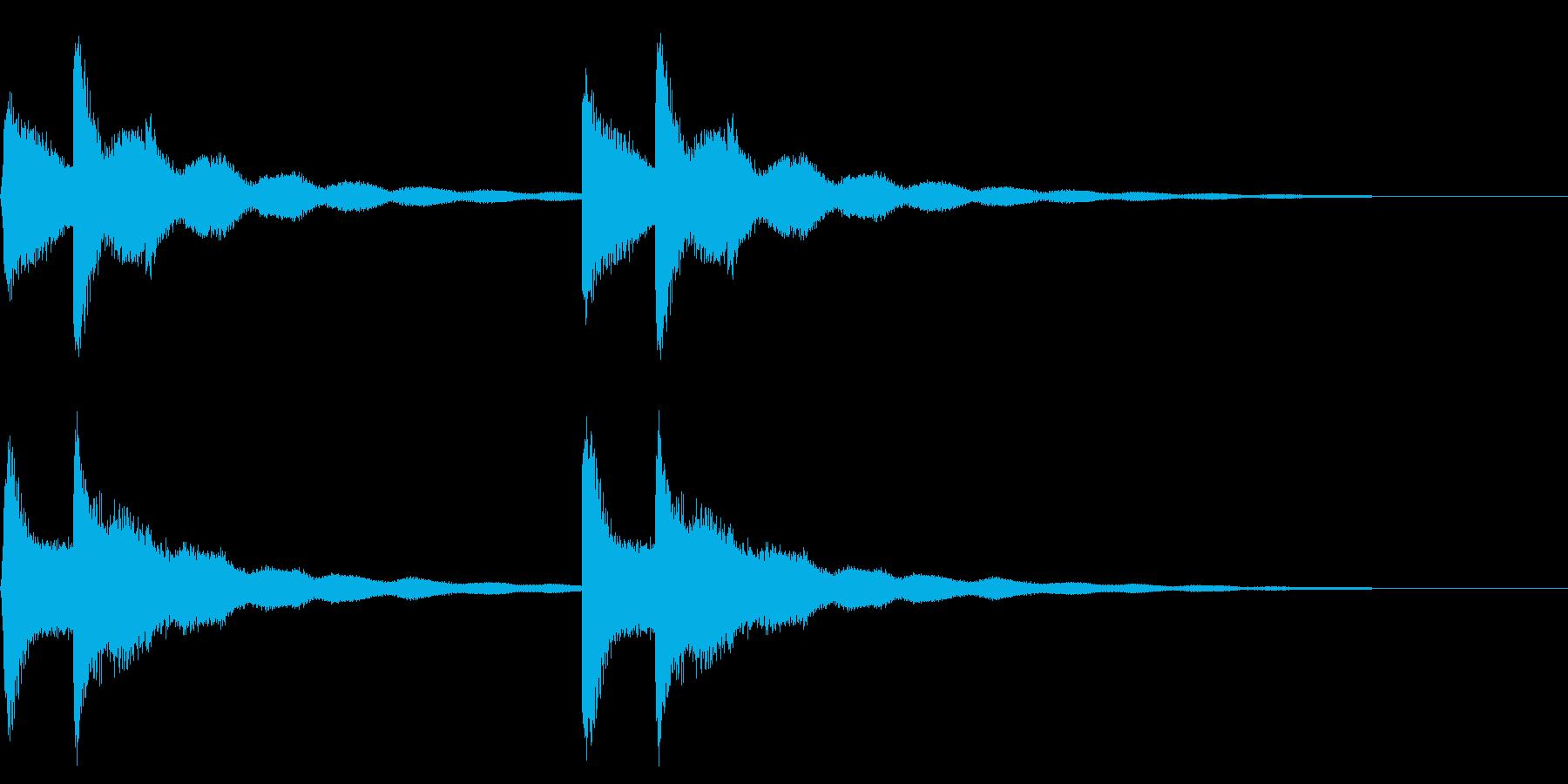 鐘の音色のピンポン~入店音~の再生済みの波形