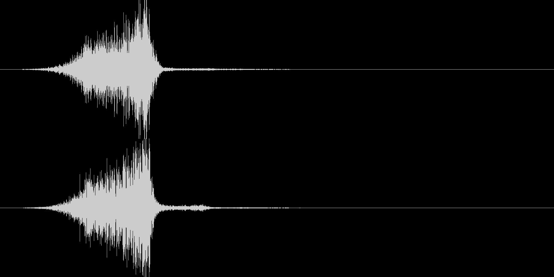 ピシュー(効果音)の未再生の波形