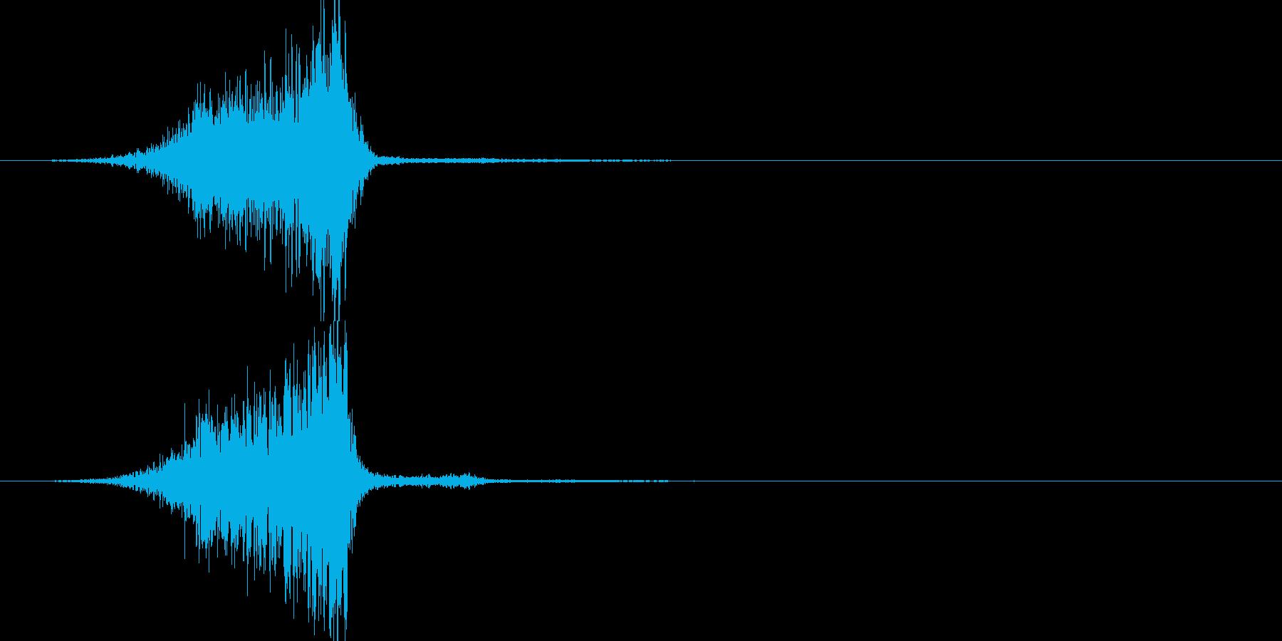 ピシュー(効果音)の再生済みの波形