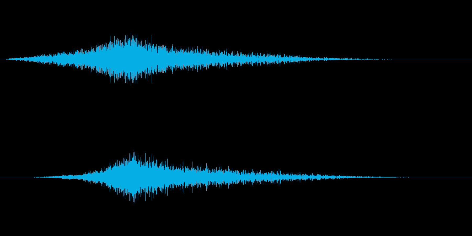 映画でよくあるライズヒットサウンドロゴ2の再生済みの波形