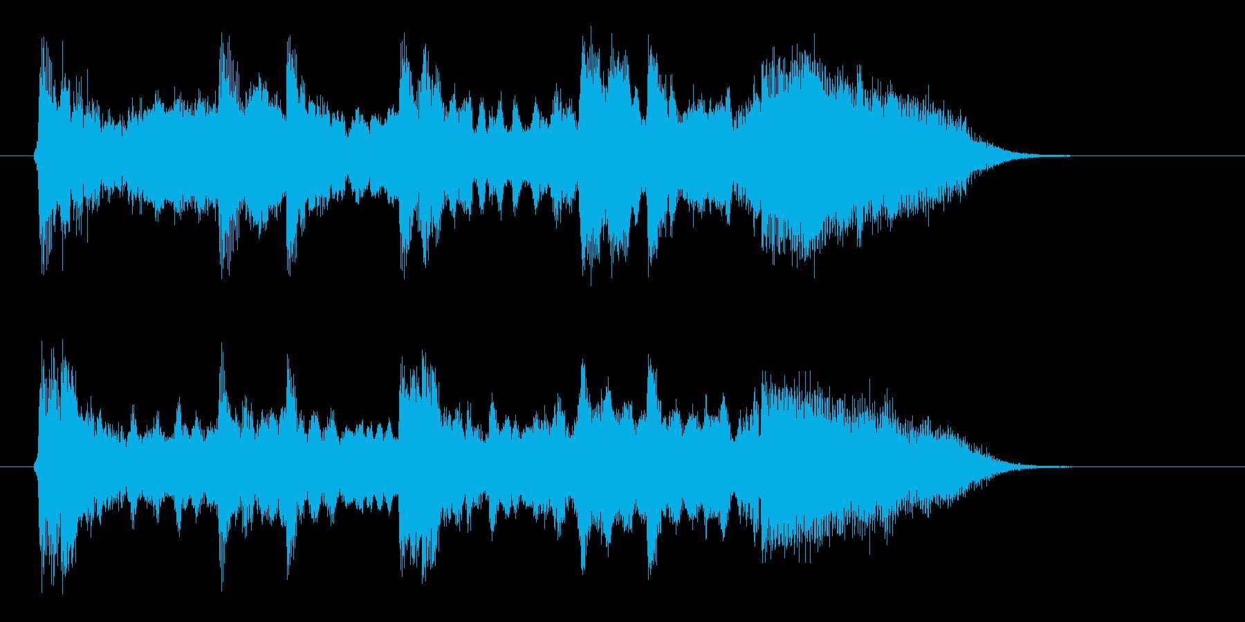 ゆったりと和やかな和風音楽の再生済みの波形