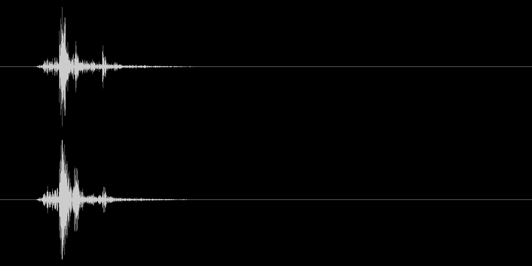 カッ(短い打音)シンプルの未再生の波形