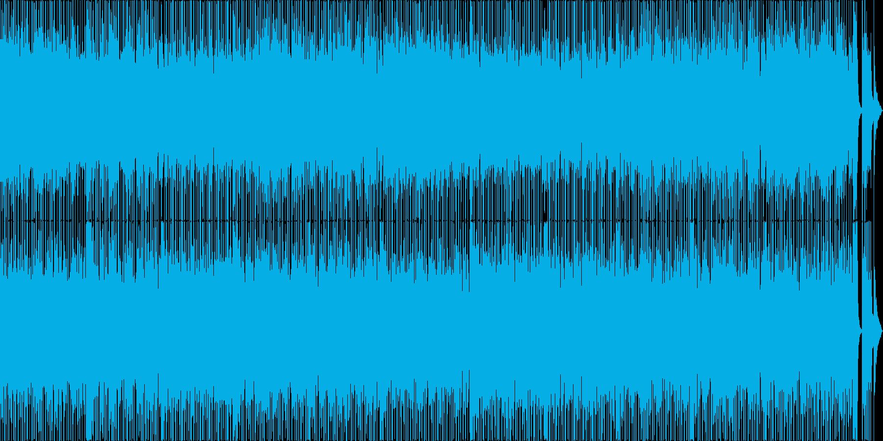 軽快さを重視した明るく楽しい曲の再生済みの波形