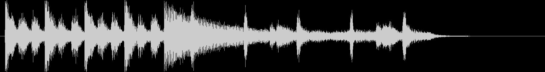 緊張感のあるシンセ・ピアノサウンド短めの未再生の波形