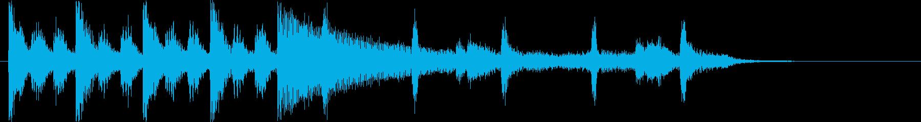 緊張感のあるシンセ・ピアノサウンド短めの再生済みの波形