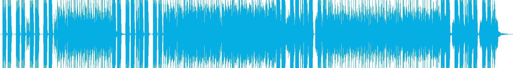 インパクトのあるハードロックBGM の再生済みの波形