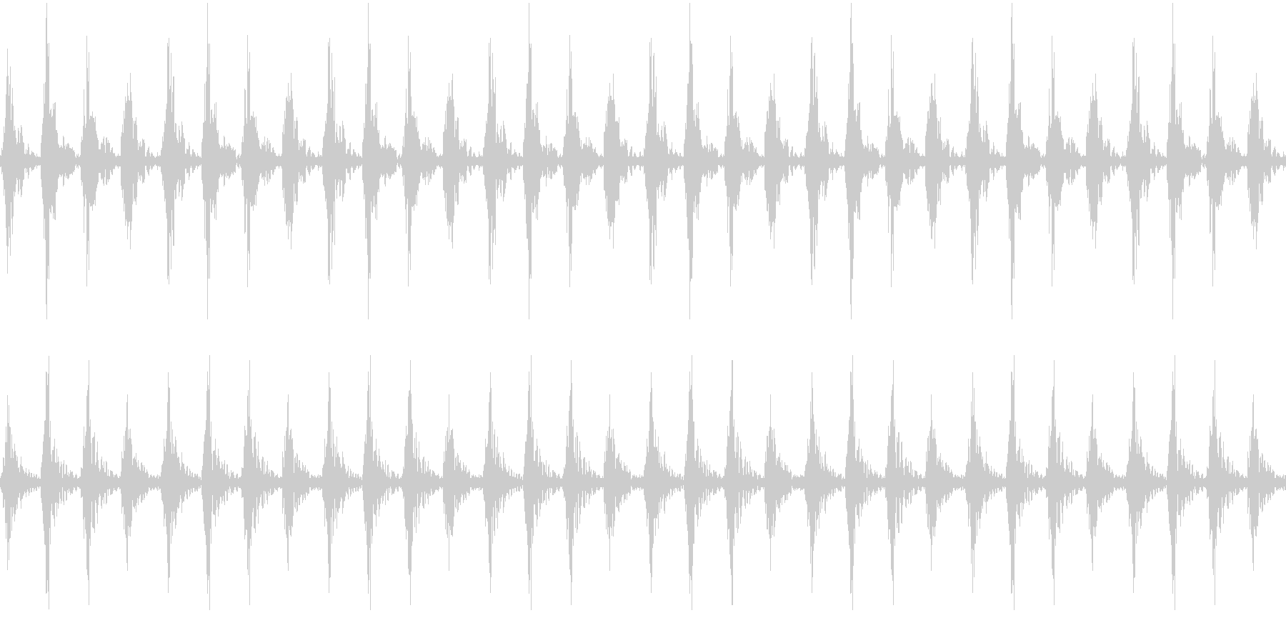 太鼓 躍動的 迫力 効果音ループ素材#2の未再生の波形