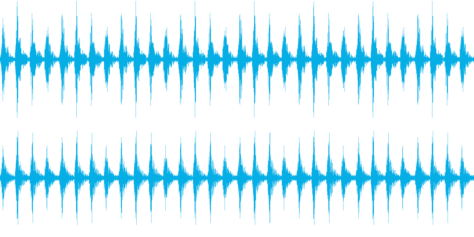 太鼓 躍動的 迫力 効果音ループ素材#2の再生済みの波形