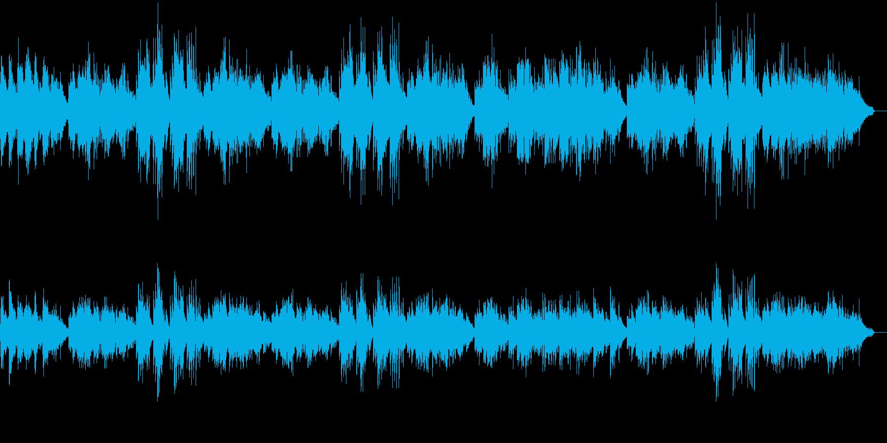 和風!琴の音の滝廉太郎の「お正月」の再生済みの波形