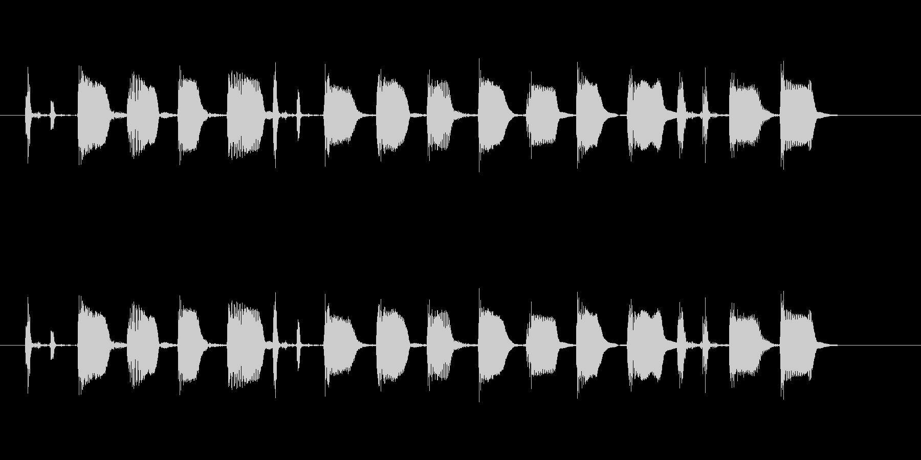 【エレキギター・リフ】ファンク風の未再生の波形