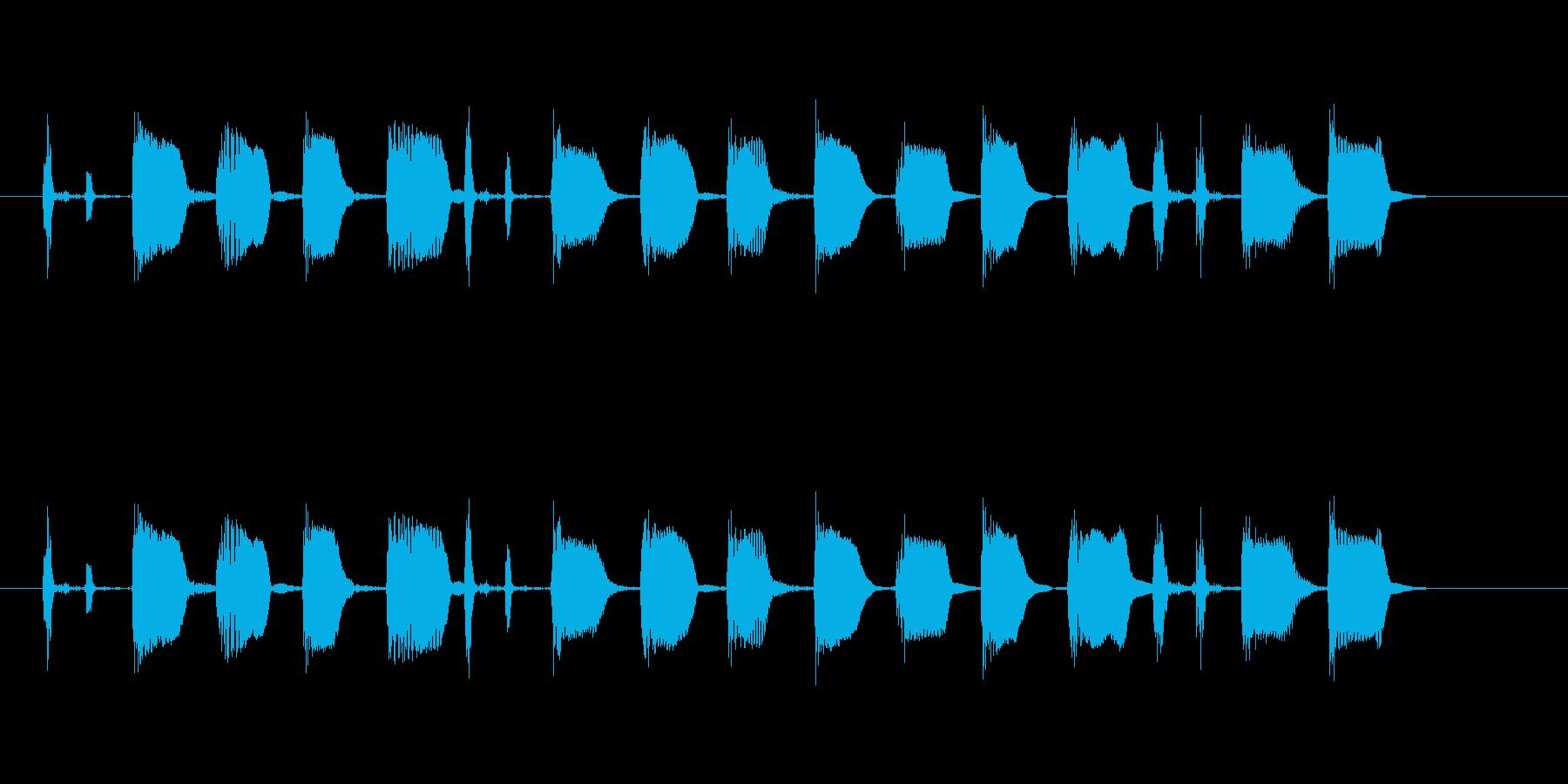 【エレキギター・リフ】ファンク風の再生済みの波形
