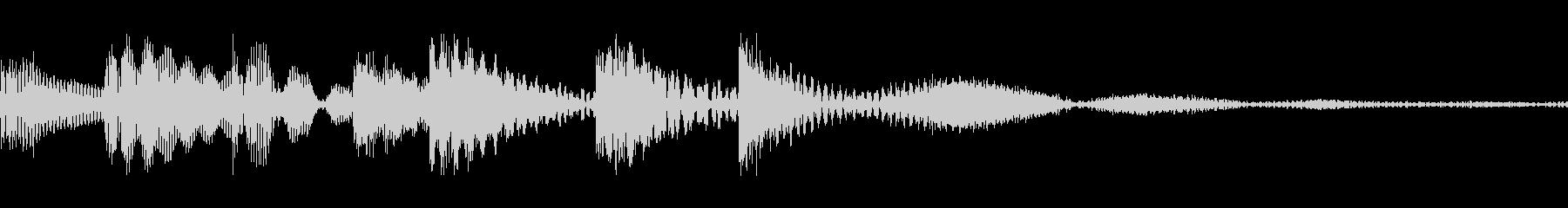 ゲーム用:アイテムゲット「ピロリン」の未再生の波形