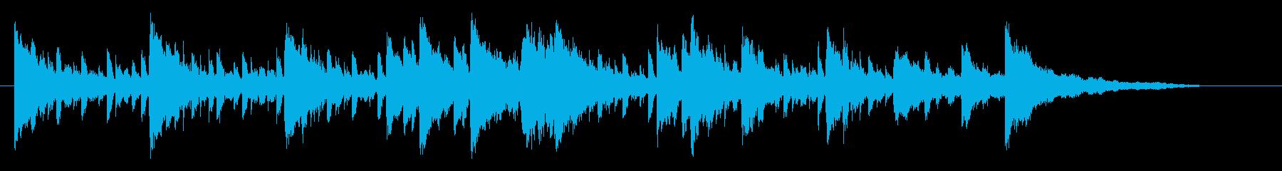 ピアノの音がオシャレな優しいジャズの再生済みの波形
