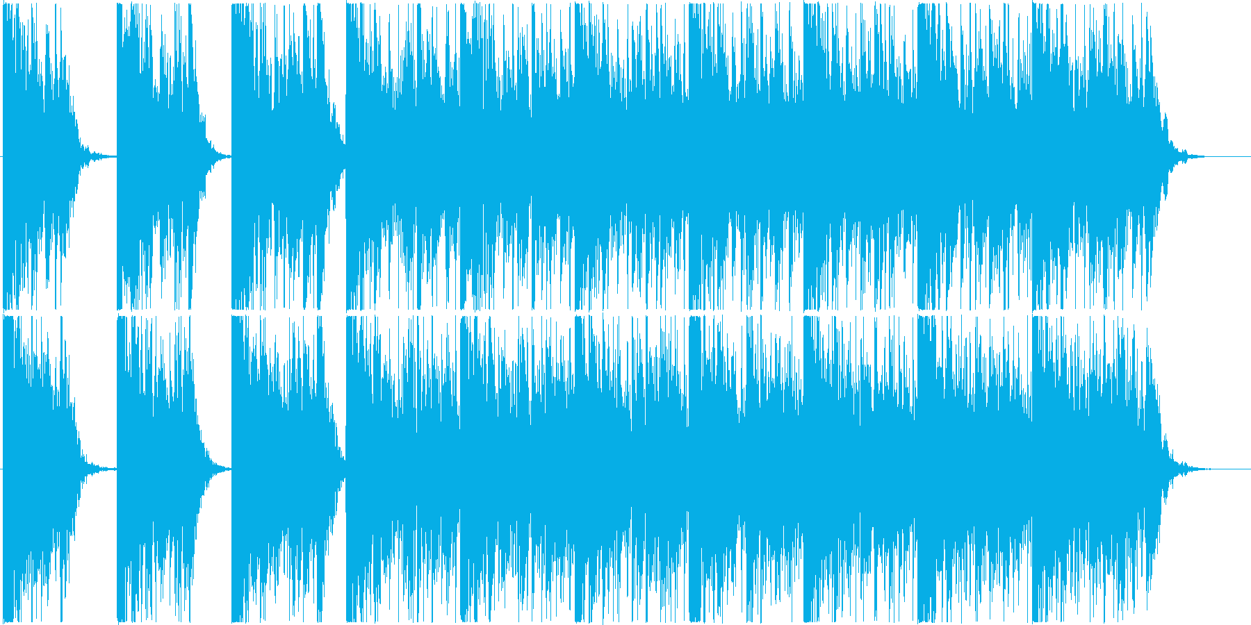 打楽器 BPM=110の再生済みの波形