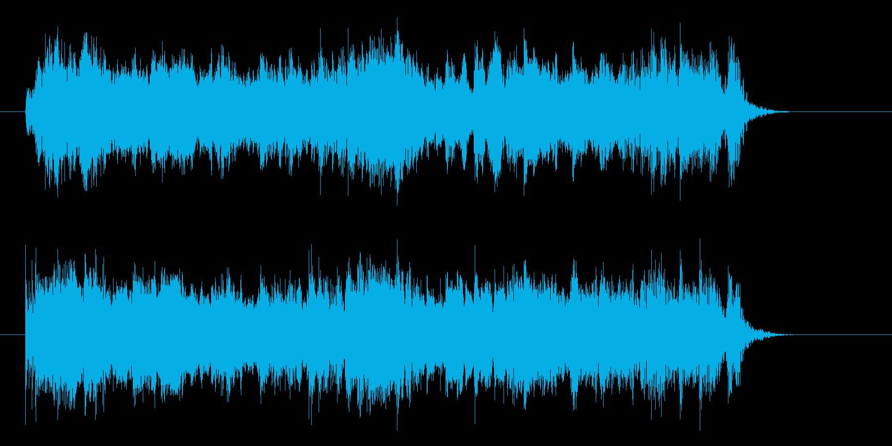 クールなギターロックの再生済みの波形