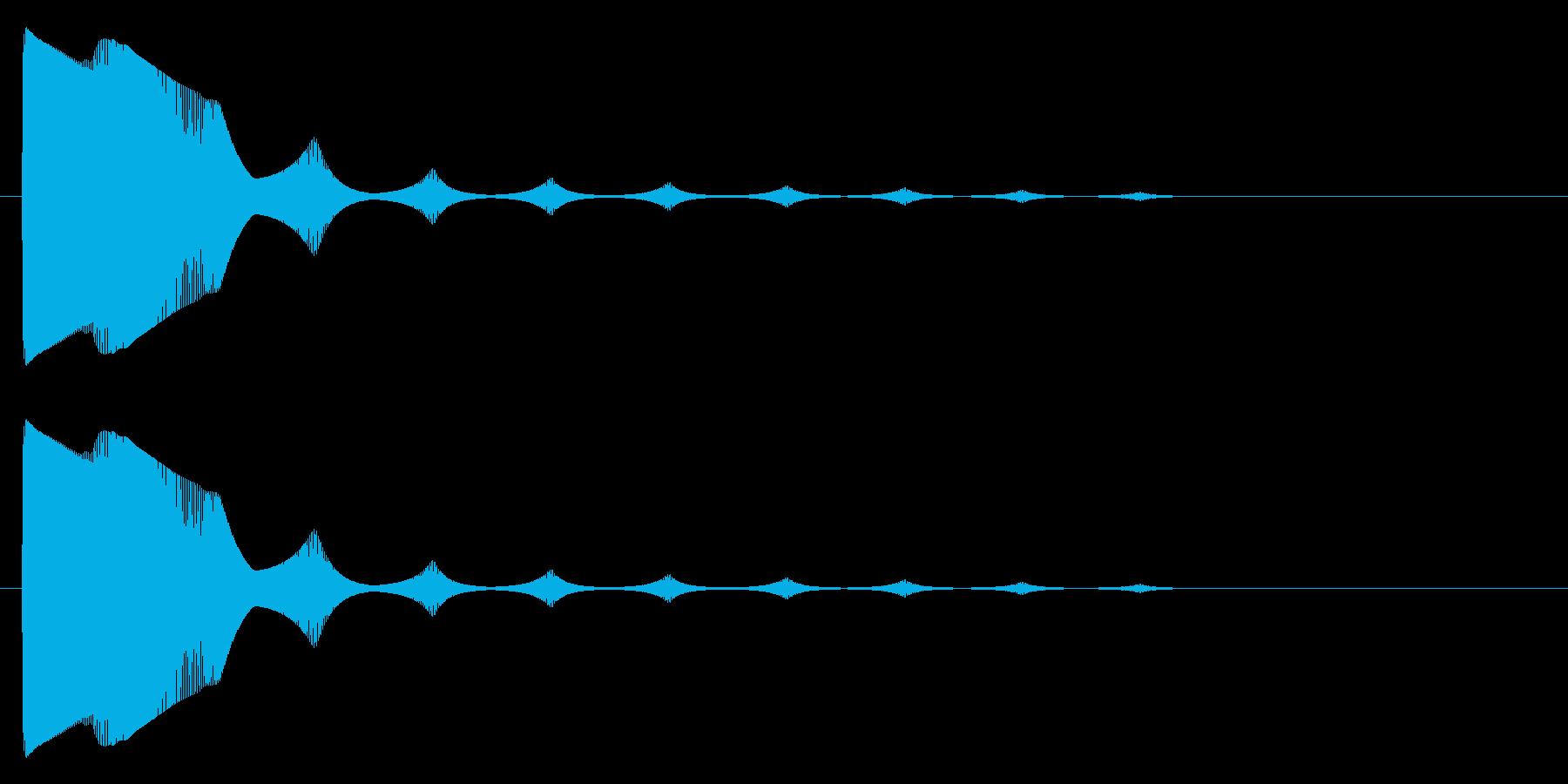 ポョン~の再生済みの波形
