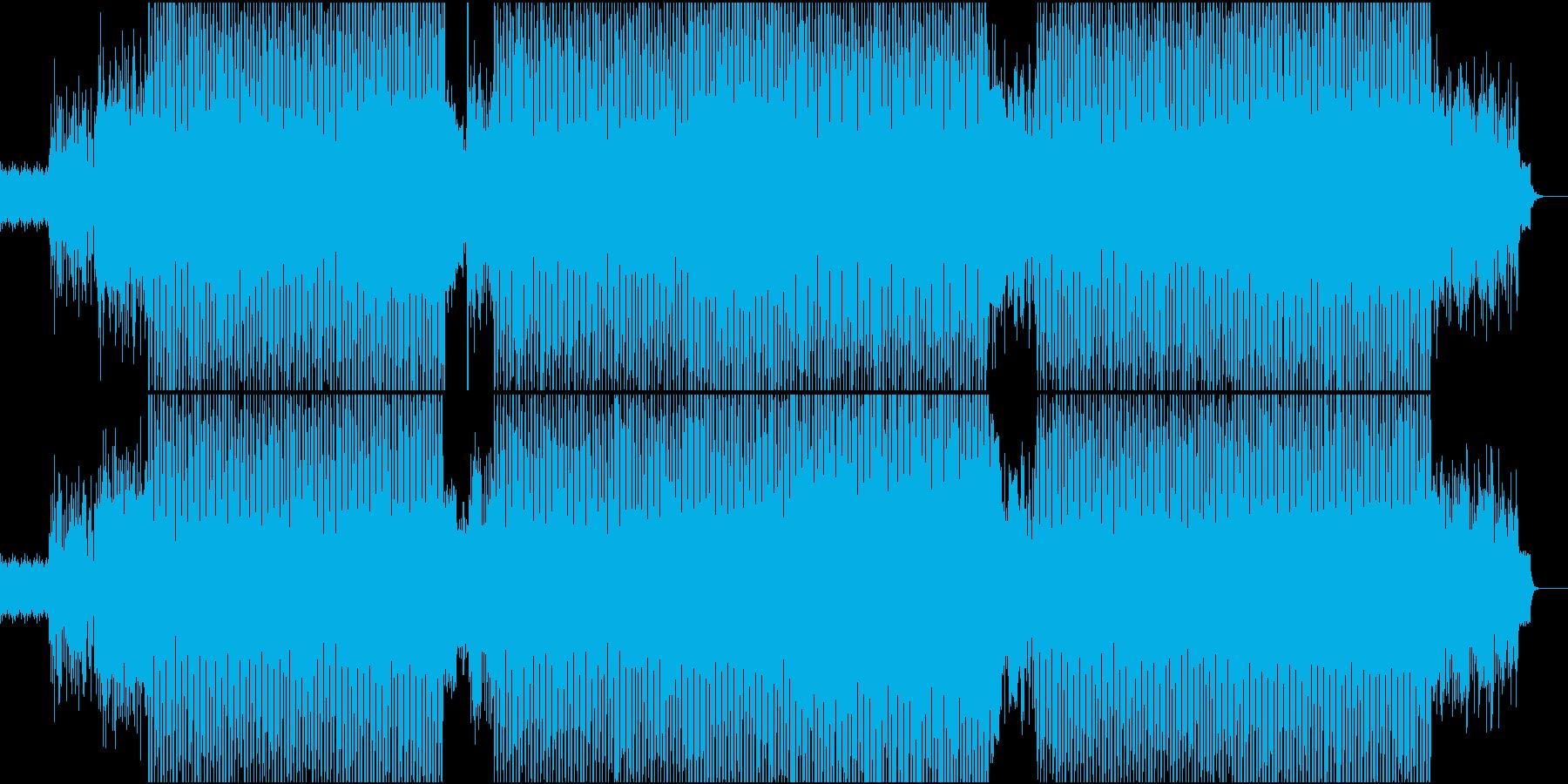 テクノポップの再生済みの波形