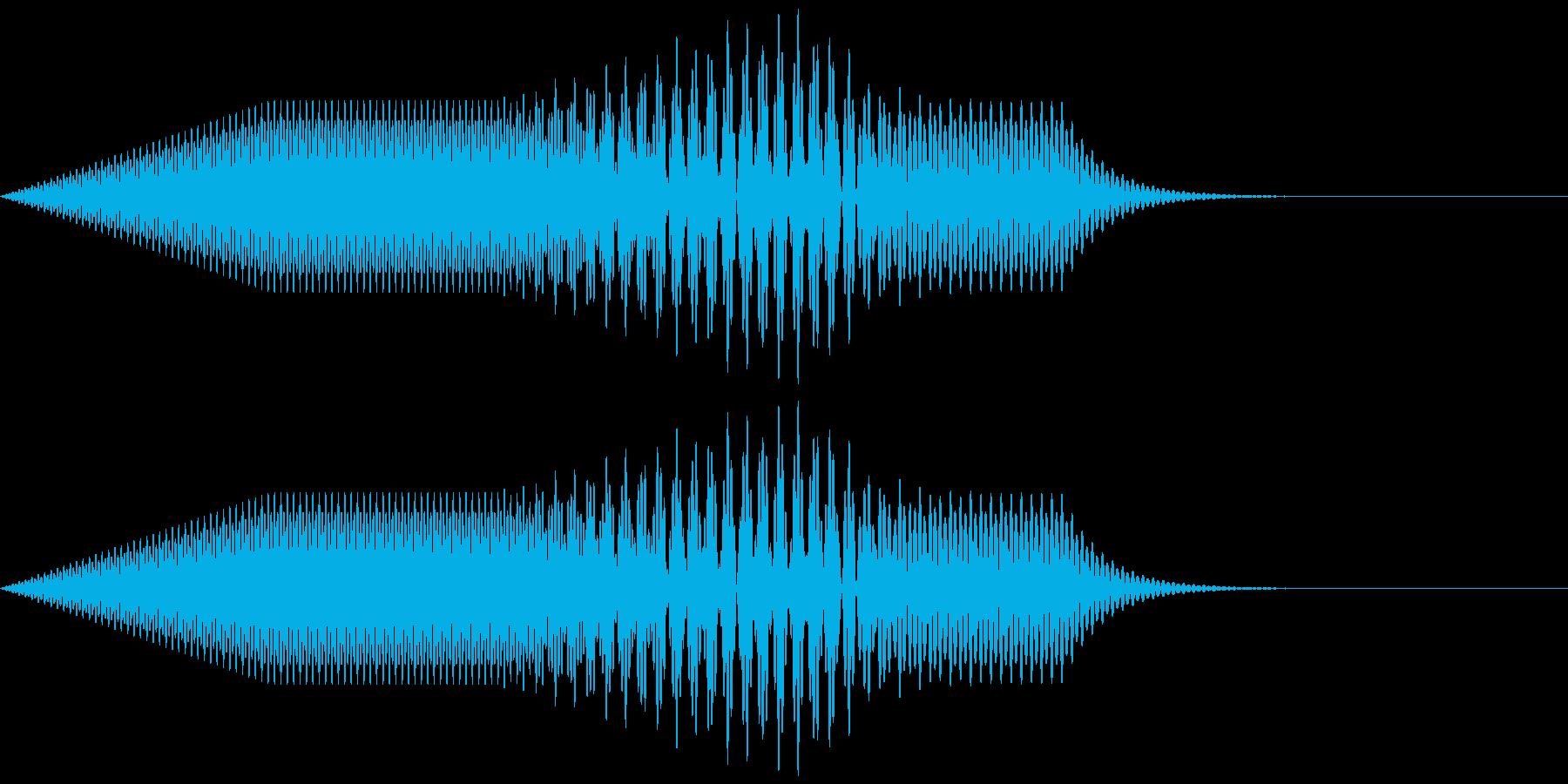 「キャンセル」などのイメージの電子音の再生済みの波形