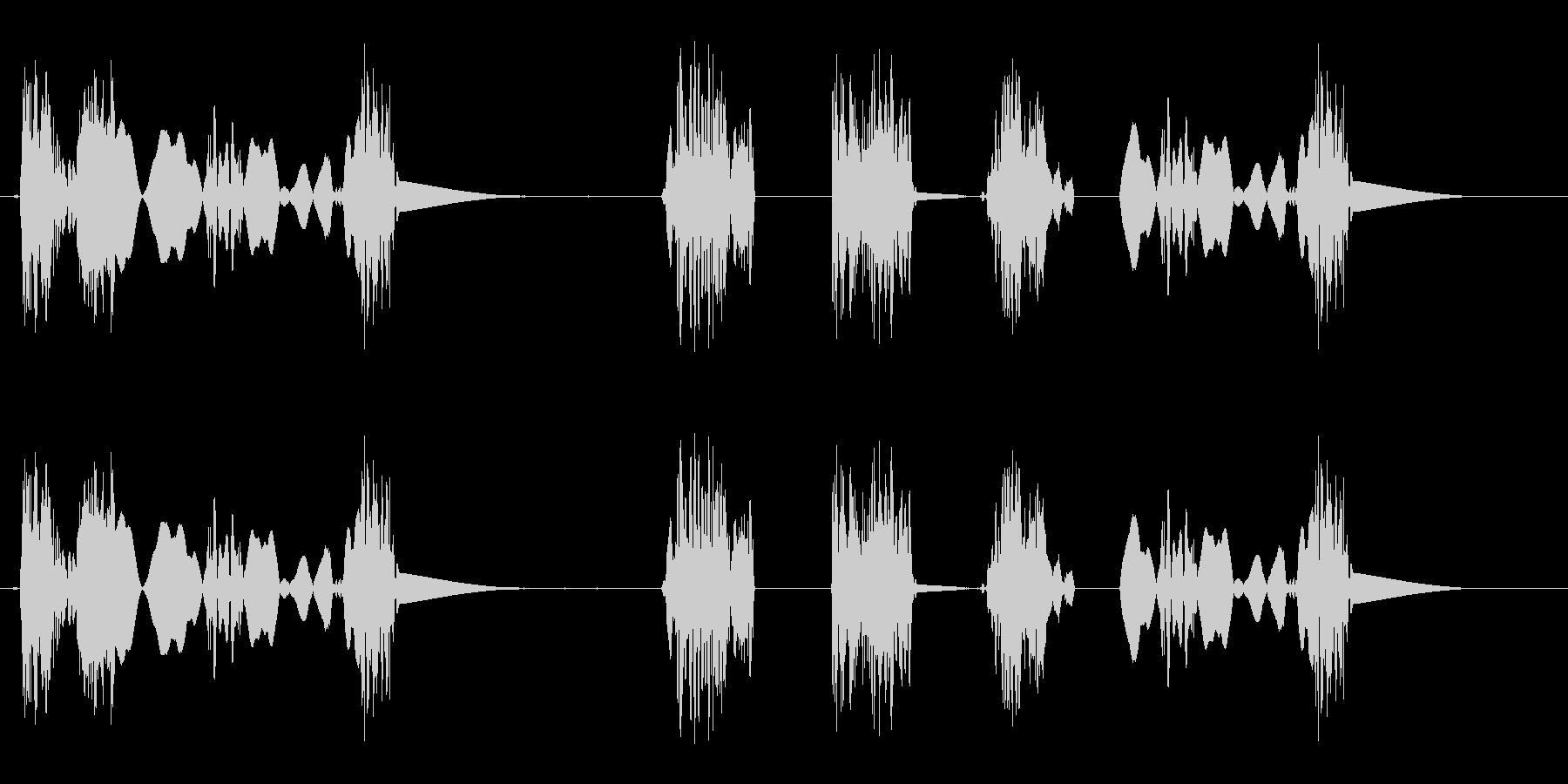 引きずり音(足音のようなスクラッチ音)の未再生の波形