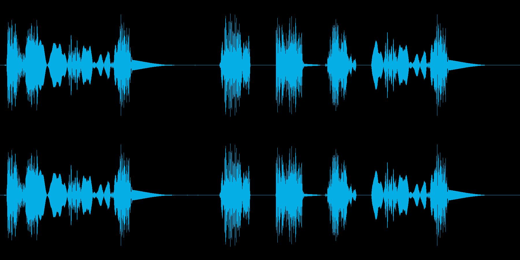 引きずり音(足音のようなスクラッチ音)の再生済みの波形