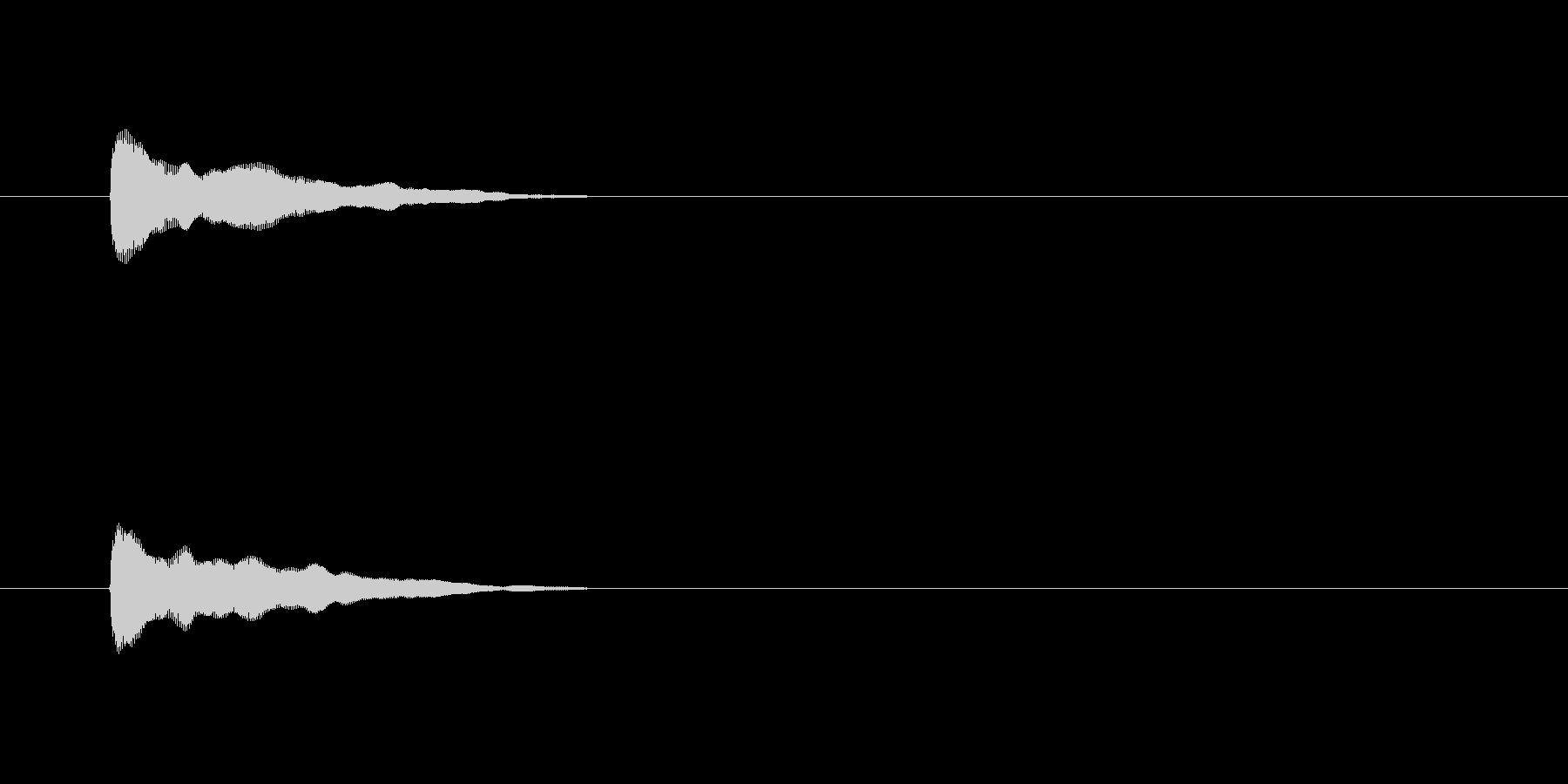 【アクセント29-3】の未再生の波形