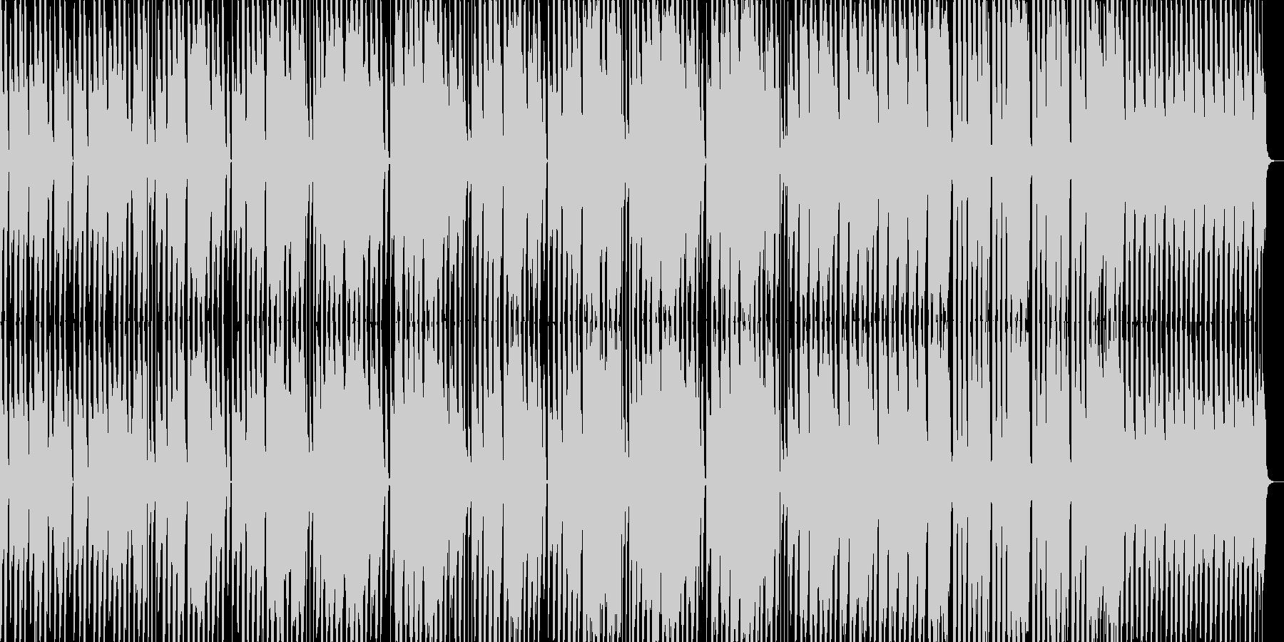 異質なポップギターの未再生の波形
