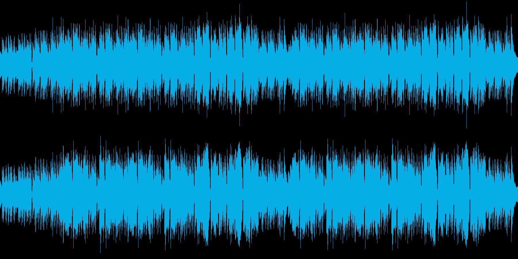 フィールドや森をイメージしたアルペジオの再生済みの波形