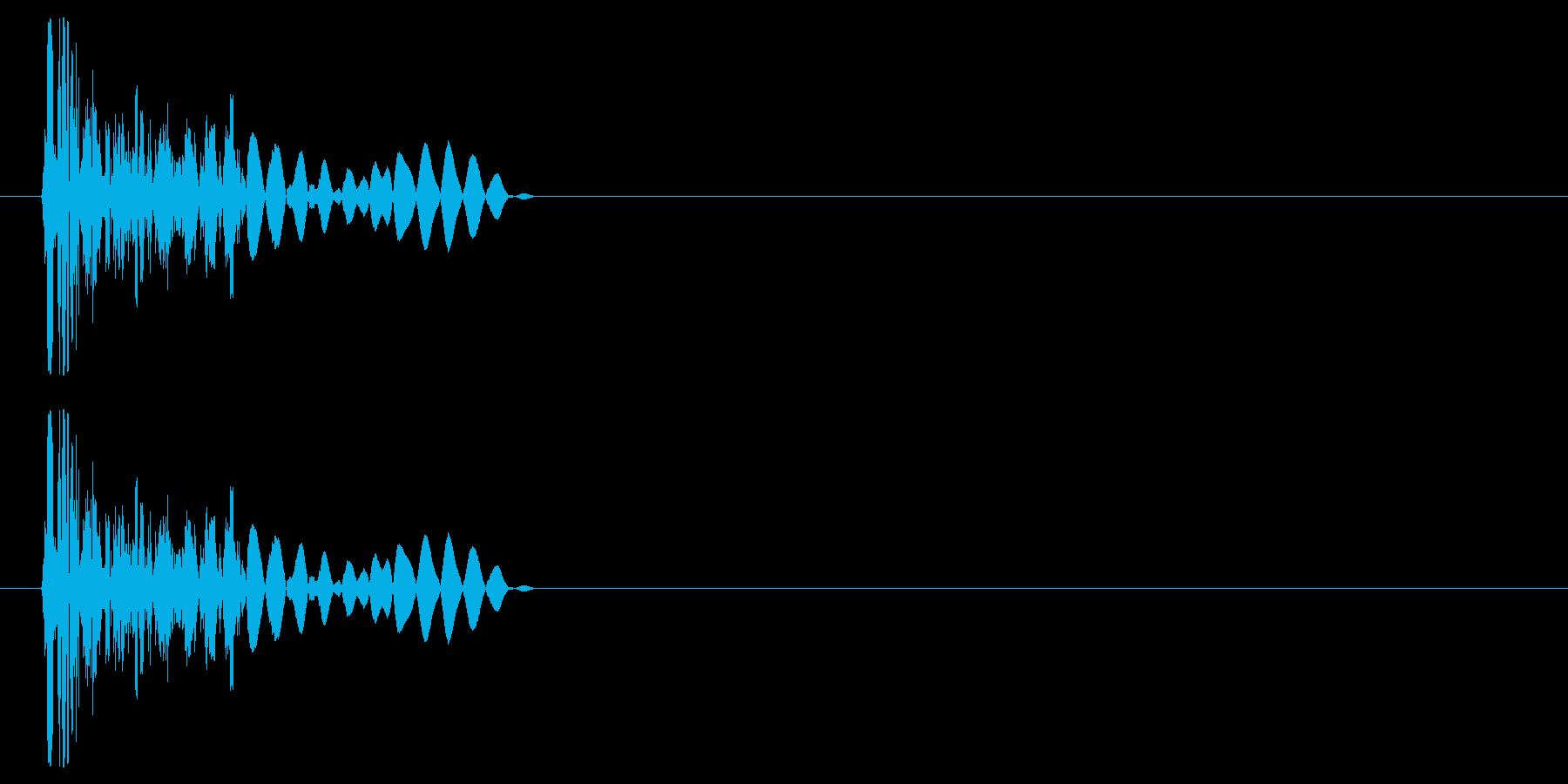 チープなドラムで作ったクリック音の再生済みの波形