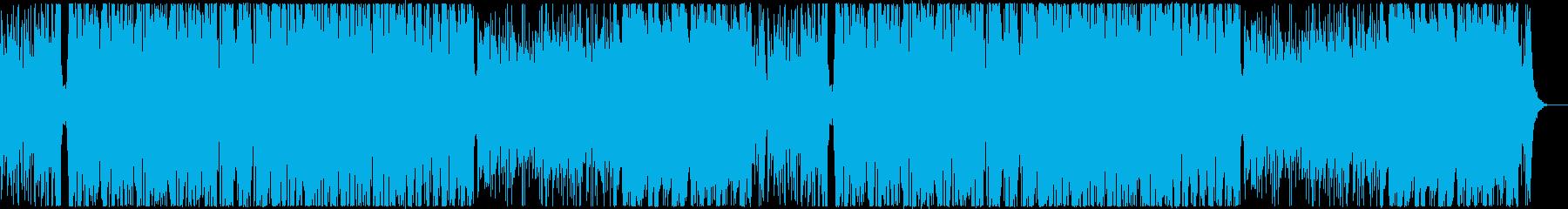 陽気なトロピカルの再生済みの波形