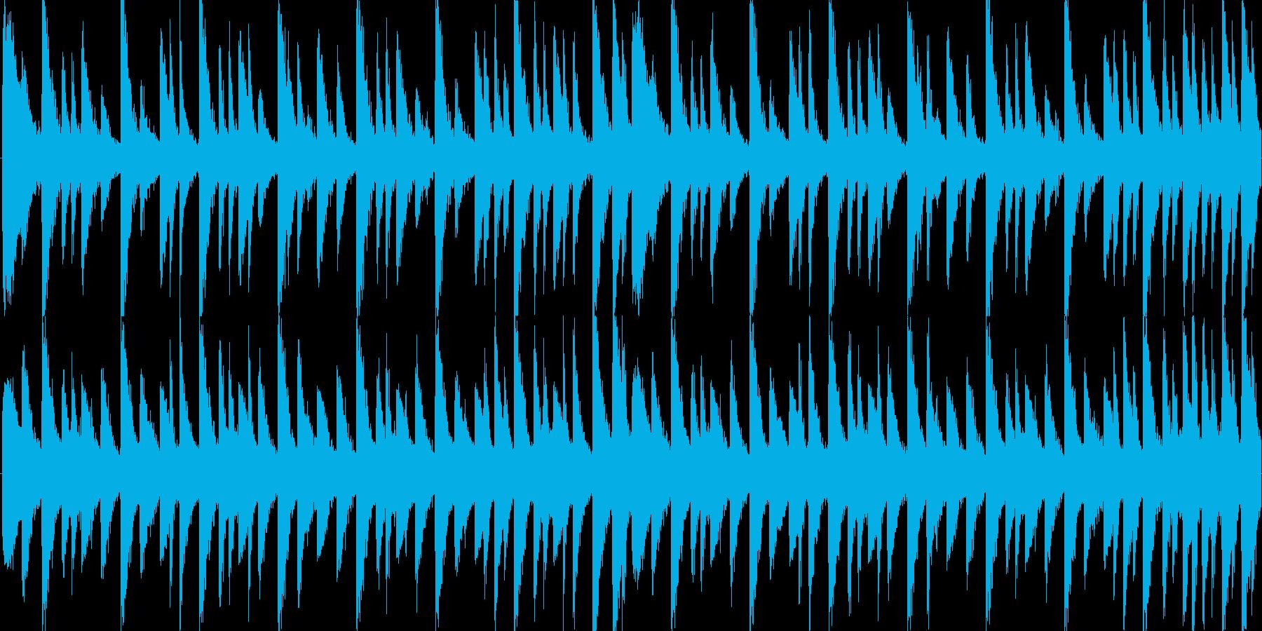 四つ打ちのビート。ダンス系。の再生済みの波形