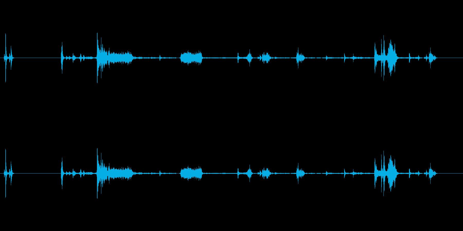 【プリンター01-on2】の再生済みの波形