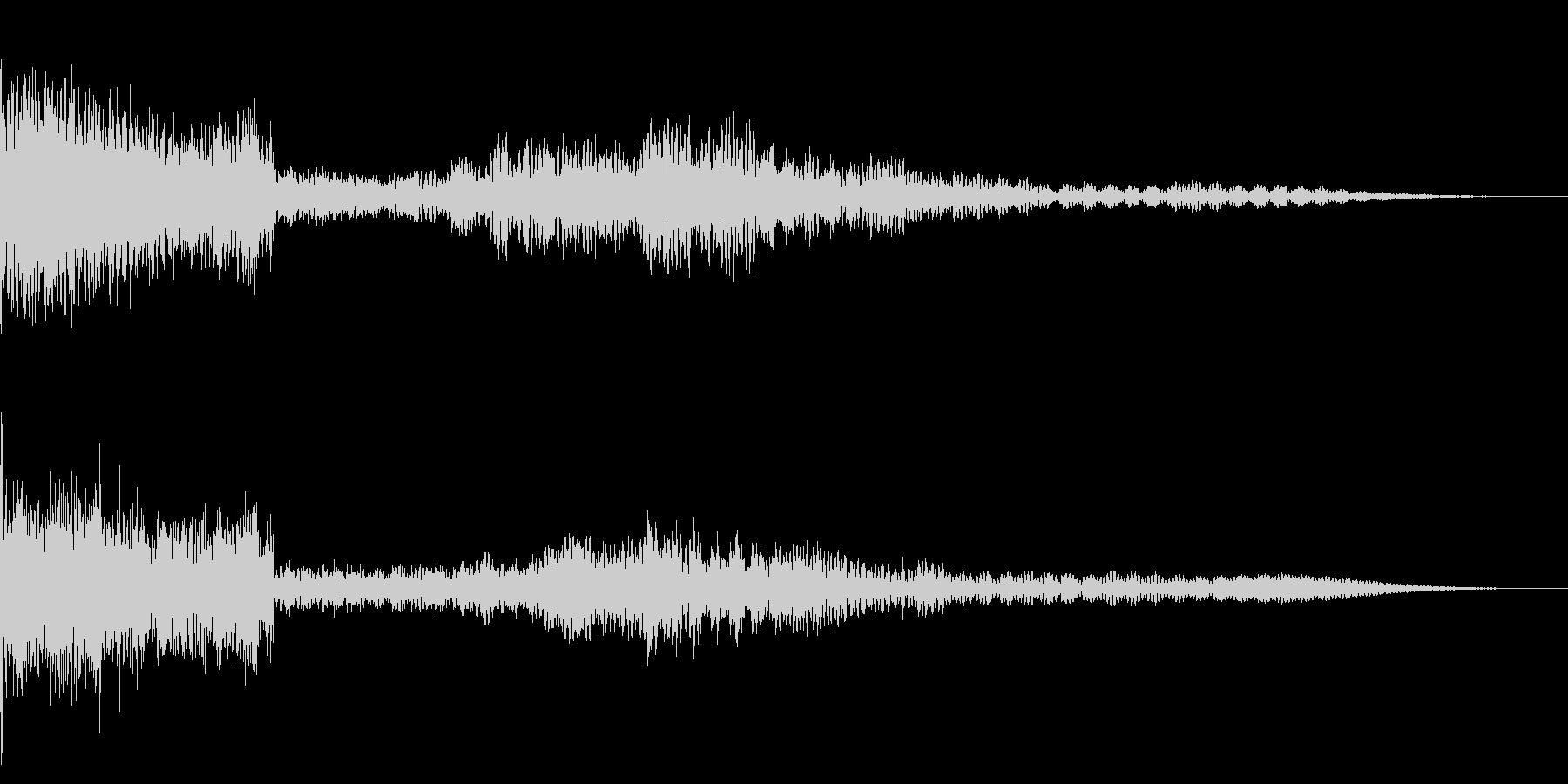 ホラー系アタック音42の未再生の波形