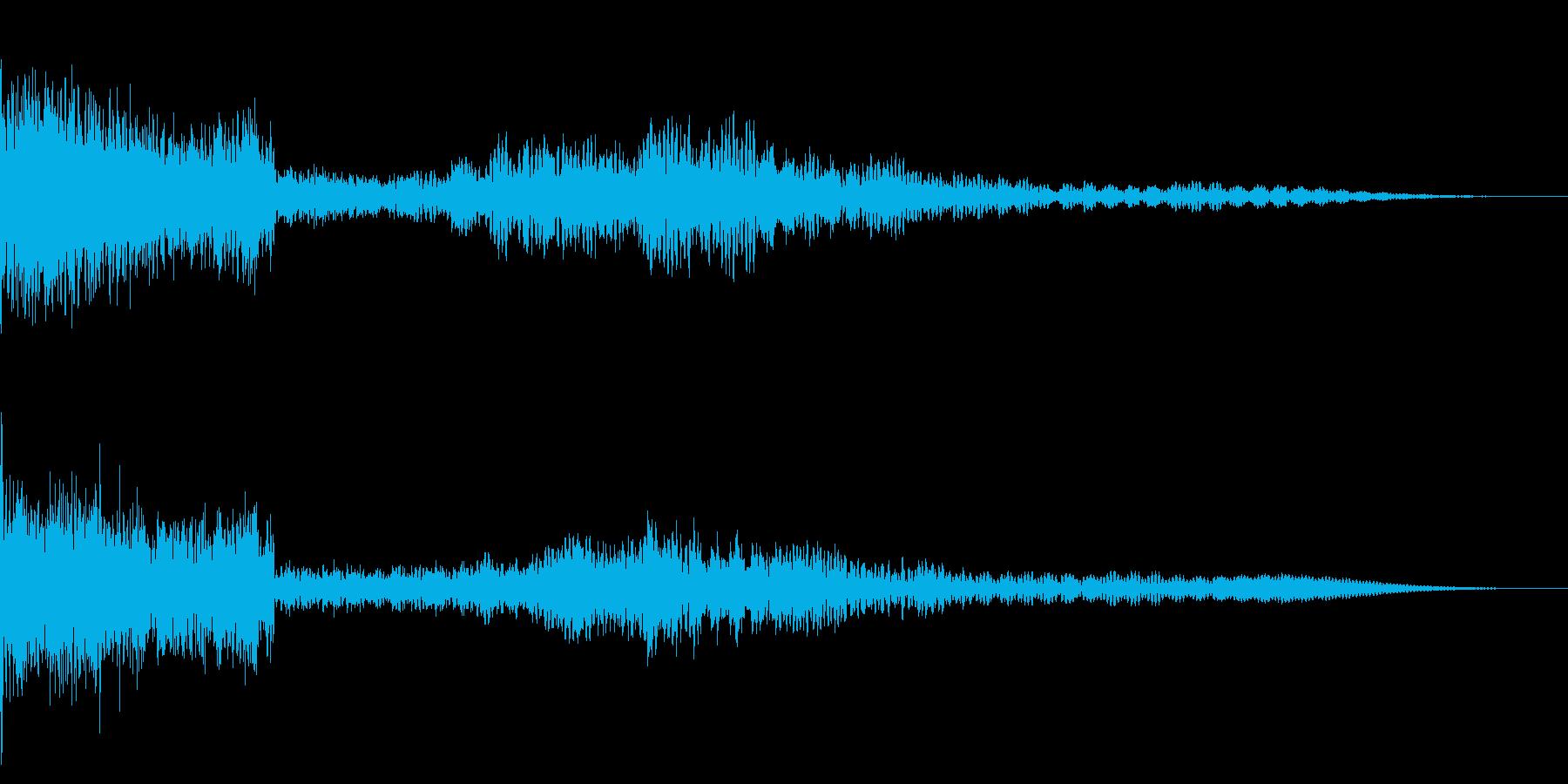 ホラー系アタック音42の再生済みの波形